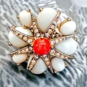 J.CREW Statement Cocktail Jeweled Ring